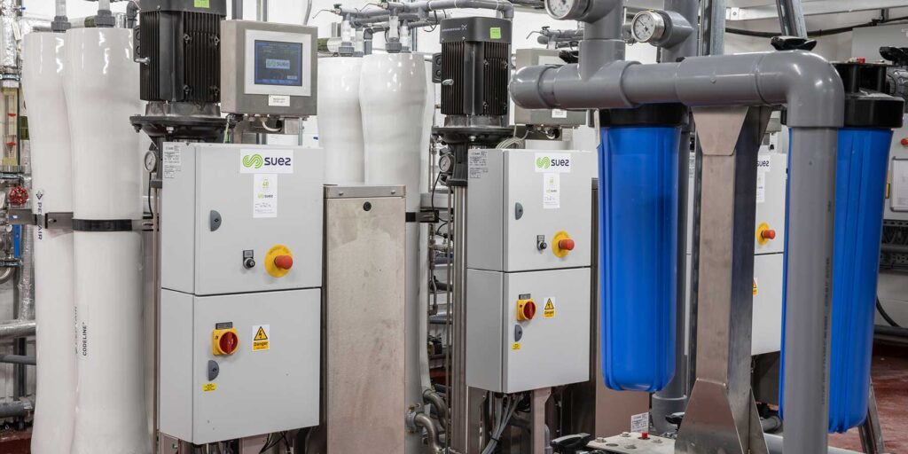 Water purification for decontamination services